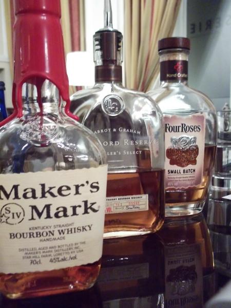 3 Kentucky bourbons