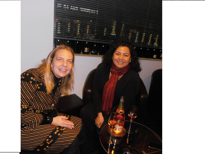 Caroline and the Wine Sleuth champagne tasting
