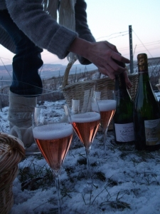 Tarlant champagne tasting in the snow