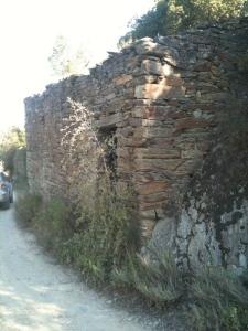 abandoned stone house