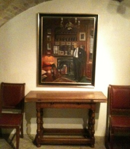 in the cellar dining room