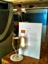 champagne while waiting for takeoff