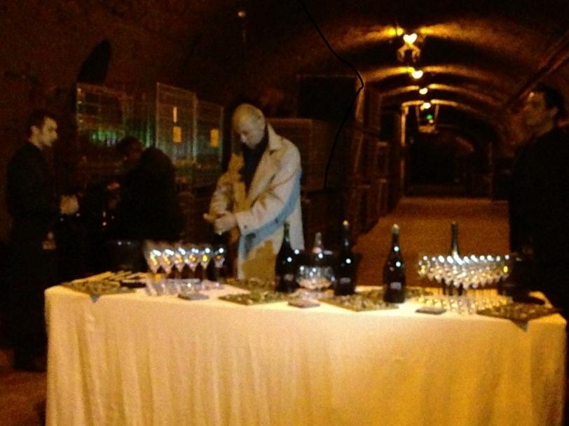 tasting in the cellar