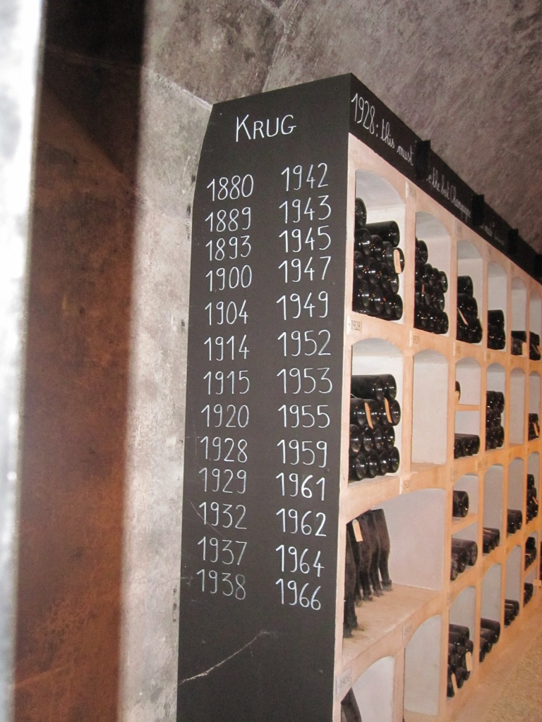 older vintages in the cellar